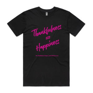 Thankfulness T - Pink writing single sided- logo colour customisable Thumbnail